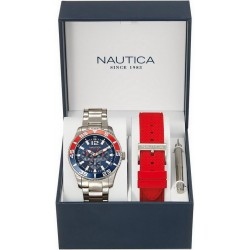 Nautica Herrenuhr NST 07 Box Set Multifunktions NAI16500G