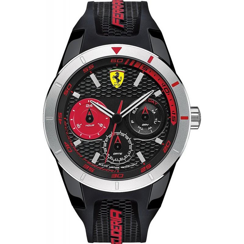 Scuderia Ferrari Men S Watch Red Rev T 0830254 New Fashion Jewels