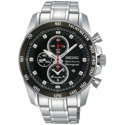 Seiko Herrenuhr Sportura Alarm Chronograph Quartz SNAE69P1