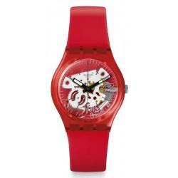 Swatch Unisexuhr Gent Rosso Bianco GR178
