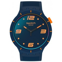 Swatch Uhr Big Bold Futuristic Blue SO27N110