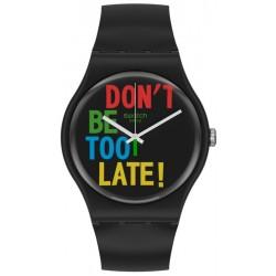Swatch Unisexuhr New Gent Timefortime SO29B100