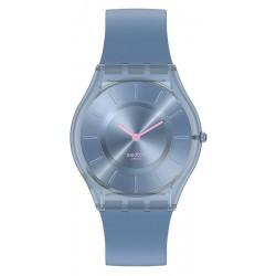 Swatch Damenuhr Skin Classic Denim Blue SS08N100
