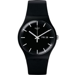 Swatch Unisexuhr New Gent Mono Black SUOB720