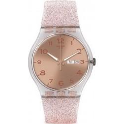 Swatch Damenuhr New Gent Pink Glistar SUOK703