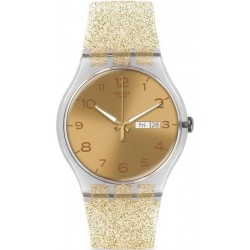 Swatch Damenuhr New Gent Golden Sparkle SUOK704