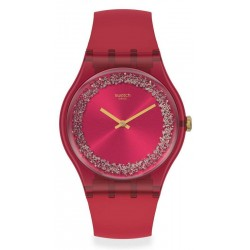Swatch Damenuhr New Gent Ruby Rings SUOP111