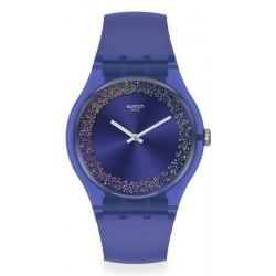 Swatch Damenuhr New Gent Purple Rings SUOV106