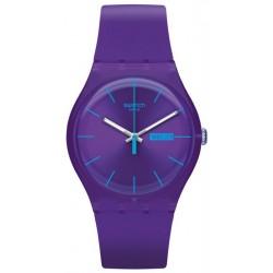 Swatch Unisexuhr New Gent Purple Rebel SUOV702