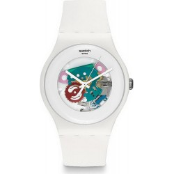 Swatch Unisexuhr New Gent White Lacquered SUOW100