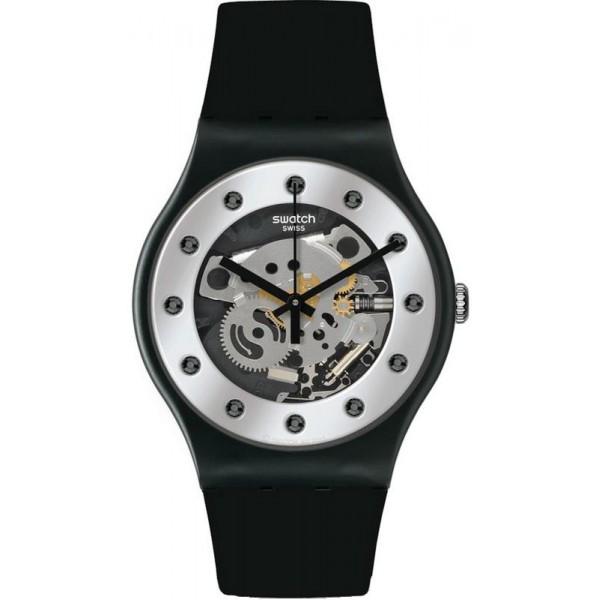 Swatch Unisexuhr New Gent Silver Glam SUOZ147 kaufen