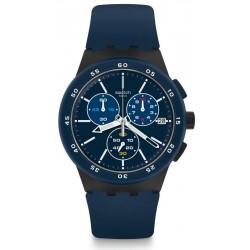 Kaufen Sie Swatch Herrenuhr Chrono Plastic Blue Steward SUSB417