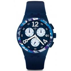 Kaufen Sie Swatch Herrenuhr Chrono Plastic Camoblu SUSN414