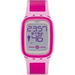 Swatch Damenuhr Digital Touch Zero One Pinkzero SUVP100