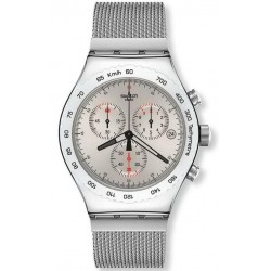 Swatch Herrenuhr Irony Chrono Silverish YVS405G