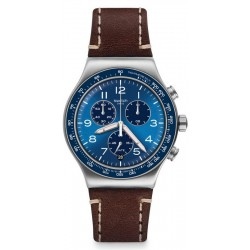 Swatch Herrenuhr Irony Chrono Casual Blue YVS466