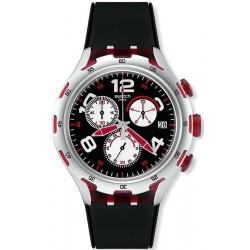 Swatch Herrenuhr Irony Xlite Red Wheel YYS4004 Chronograph