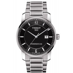 Tissot Herrenuhr T-Classic Powermatic 80 Titanium T0874074405700